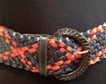 Vintage Colorful Belt,Woven Leather Belt,Belt,Boho Colorful Belt,Waist Belt,Faux Leather Braided Belt,Hippie Festival,Boho Chic,Fashion belt