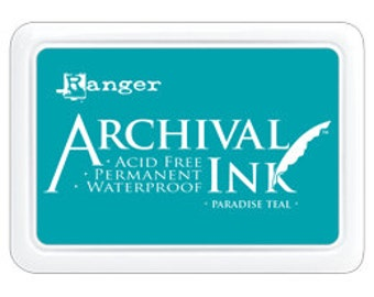 New! PARADISE TEAL Archival Ink Pad by Ranger - Summer 2016