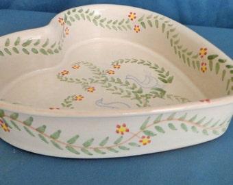 Heart Shaped Stoneware Casserole Dish Bridal Quilt Pattern Amnion