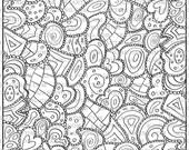 Eclectic Geometrics Zendoodle (Line_Art Printable_00212 Zen17 KJArting)