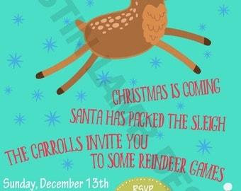 Digital Version - Reindeer Games Invitation