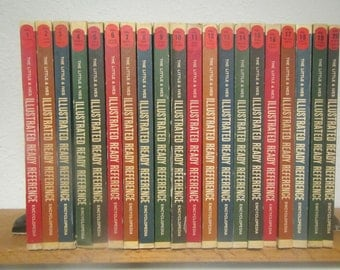 vintage 1963 Illustrated Ready Reference Encyclopedia 20 volume set , for Home and School , Little and Ives