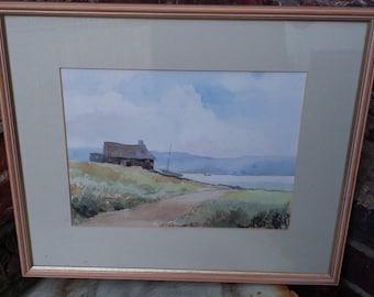 Original Watercolour 'Down to the Loch' Elaine Thompson