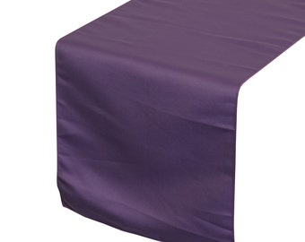 YourChairCovers - Purple Lamour Satin Table Runner | Wedding Table Runner