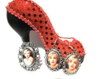 Marilyn Monroe Pin and Earrings