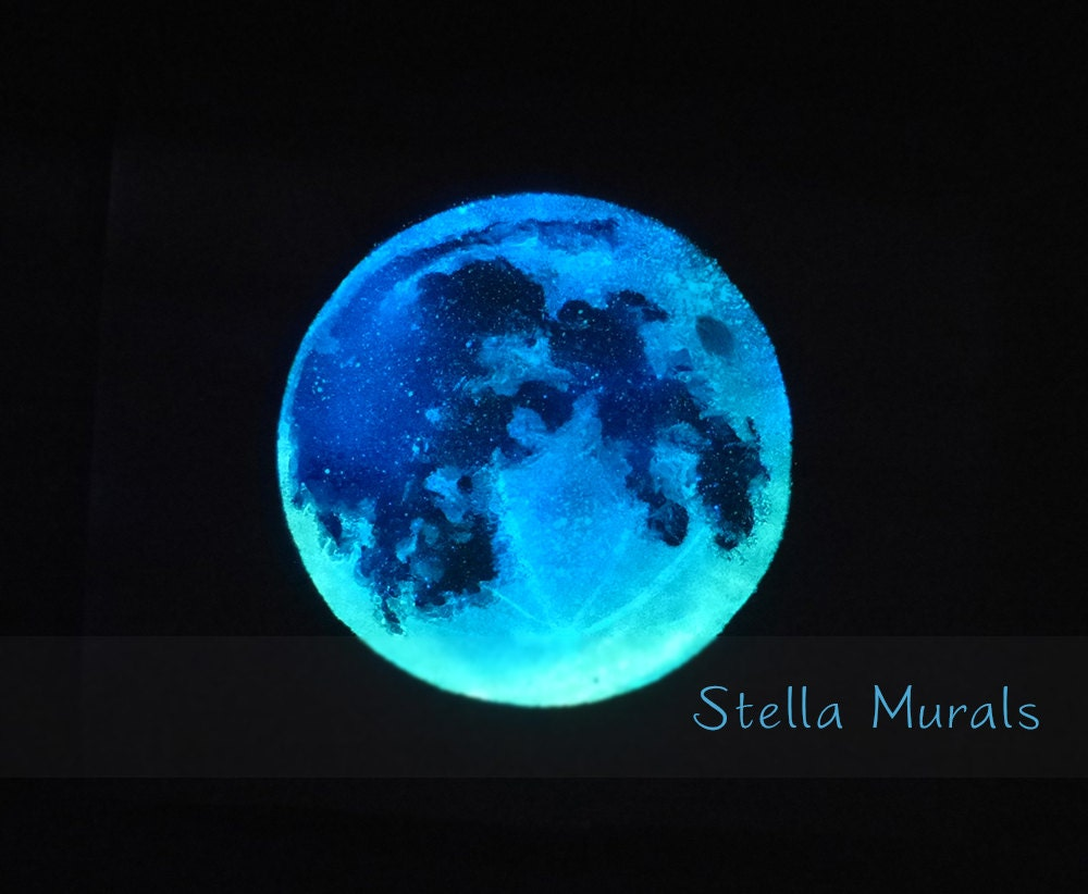 moon decal large glow in the dark star ceiling star wall zoom