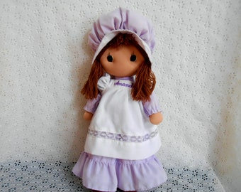 Kamar Amanda Doll made in Taiwan with purple dress and white apron please read description