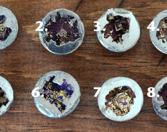 Mini Bismuth Geode - 1 Inch - You Choose - The Stone of Transformation and Change