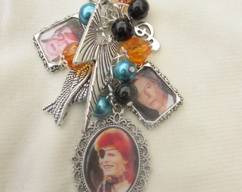 David Bowie Loaded Charms Keyring/Keychain