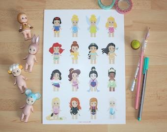 A4 Print - Sonny Angel x Disney Princess