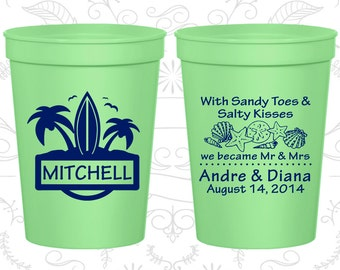 Custom Plastic Cups (C519) Personalized Cups, Wedding Cups, Personalized Plastic Cups, Stadium Cups, Party Cups, Plastic Cups