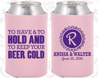 Blush Wedding, Can Coolers, Blush Wedding Favors, Blush Wedding Gift, Blush Party Gift (52)