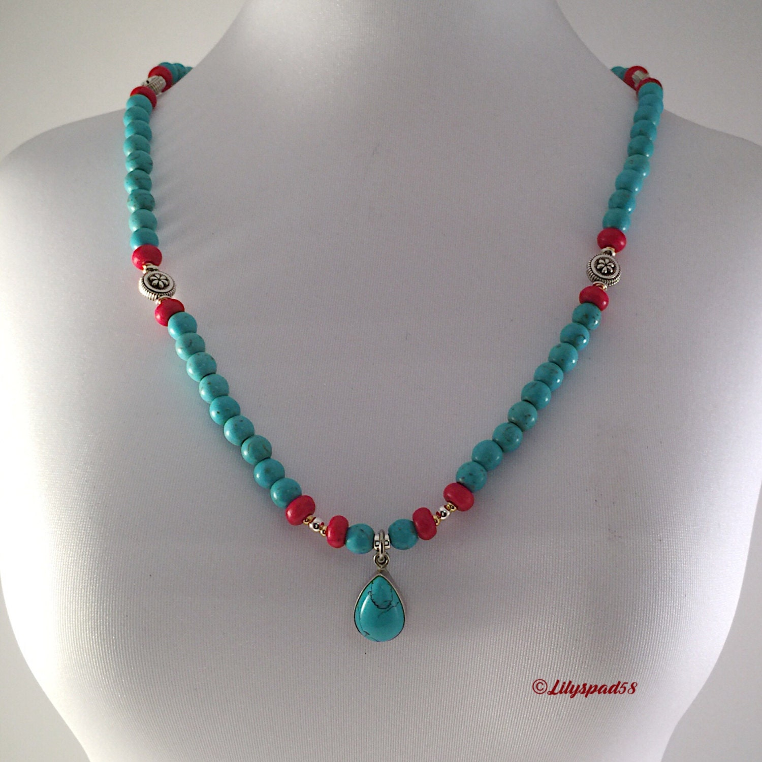 cinco jewelry turquoise beaded necklace gift for southwest cinco de 2120