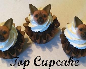 Edible Chihuahua Cupcake Toppers