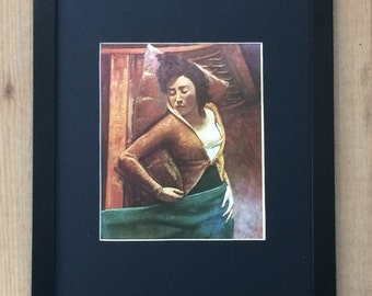 Mounted and Framed Sleeping Girl by Balthus - 12''x16' - wall art