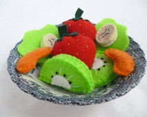 Felt Food Fruit Salad, Playfood Fruit Set, Pretend Food Salad, Felt Food Playset, Choose the size you need!