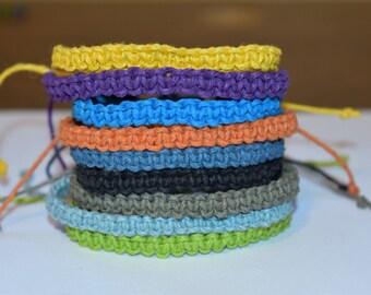Macrame Bracelet, Choose your Color Bracelet, Hemp Bracelet, Hemp Jewelry, Macrame Jewelry, Knotted Adjustable Hemp Bracelet