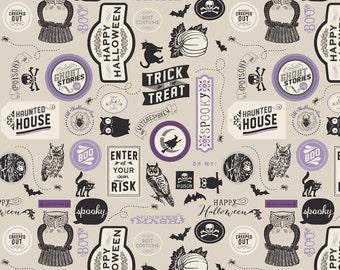 Riley Blake Designs - Haunting Sticker Purple - C4672-PURPLE