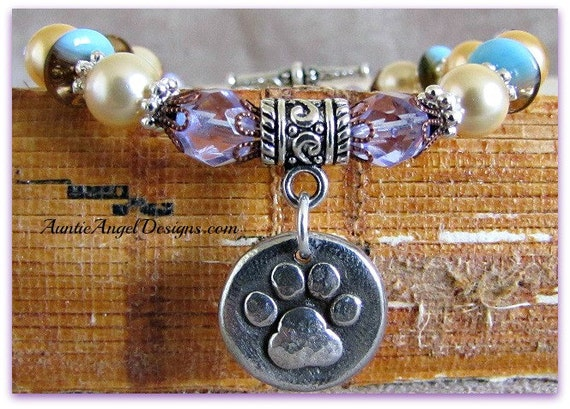 Paw Prints at the Pearly Gates, Paw Print Pet Memorial, Pet Sympathy Jewelry, Paw Print Jewelry, Pet Loss Gift, Death of Pet, Pet Memorial