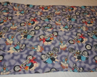 Motorcycle Riding Hog Pillow Case - reclaimed Bed linen