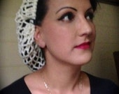 GORGEOUS Reproduction Vintage Hand Crocheted Snood from 1942 Pattern Various Colours