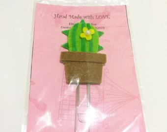Cacti with Yellow Blossom Clip Set by @ellestreasurebox