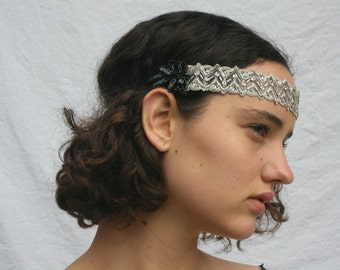 Beaded 1920s flapper headband flapper headbands 1920 flapper dress dresses flapper style dress 1920 dress 1920s