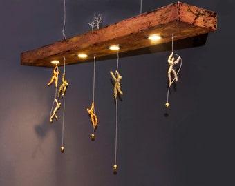 Acrobats Ceiling fixture, Handmade item