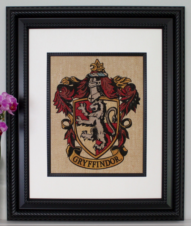 Gryffindor Crest Harry Potter Wall Art Burlap Wall Art