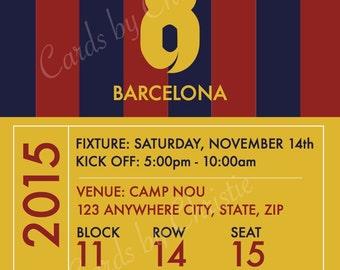 Barcelona Birthday Invitation - You Print