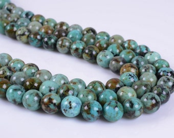 """8MM057 8mm African Turquoise round ball loose gemstone beads 16"""""""