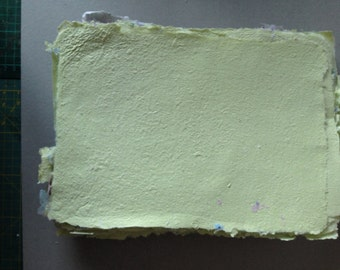 light green recycled paper