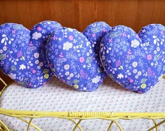 Pink and purple cushion heart