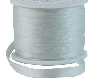 11 Yds (10 M) Embroidery Silk Ribbon 100% Silk 4mm - Whisper Grey - By Threadart