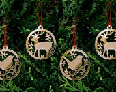 Scandinavian Tree Ornament Animal Set Christmas  Christmas Tree Decorations  Christmas Tree Ornaments