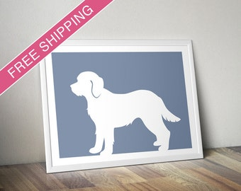 Cavapoo Print - Cavapoo Silhouette, Cavapoo art, dog home decor, dog gift