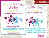 Scavenger Hunt Birthday Invitation | Mall Madness | Shopping | Invite | Oh Snap | Photo | Mall | Digital | Print file | Oh Snap | Party