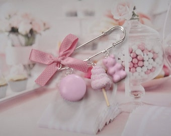 brooch pink sweets