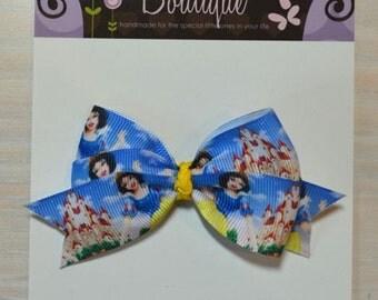 Boutique Style Hair Bow - Disney Princess, Snow White