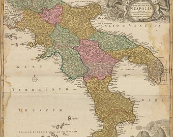 1700s map of Italy, Italy map, Italian map,map of Italy, europe, black and white, sepia