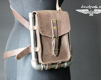 STEAMPUNK LEATHER BAG hand made leather