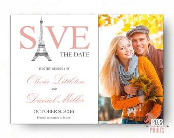 Paris Save The Date Card