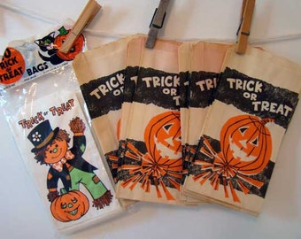 Vintage trick or treat bags, Halloween candy bags, Halloween trick or treat bags