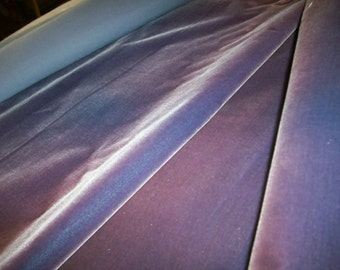 """Antique Victorian French Silk Velvet Fabric Yardage Old Store Stock """"Lilac blue ombre"""""""