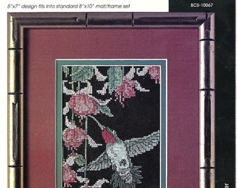 Hummingbird Flight Pattern Cross Stitch Vintage