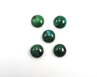 Chrysocolla 10mm Round Cabochons Approximately 17.00 Carat Outstanding luster (9734)
