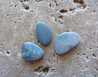 Natural Opal Doublets 3 stones