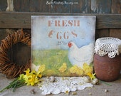 Farmhouse Wooden Sign-Rustic Kitchen Sign-Rustic Country Decor-Spring Decor-Easter Decorations-Primitive Easter Decor