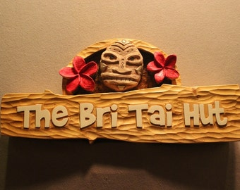 TIKI BAR SIGNS | Custom carved tiki signs | Custom wooden signs home tiki bars | Carved wood signs | Personalized Signs | Parrot head Signs
