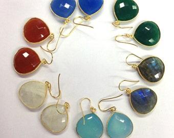 Bezel earrings